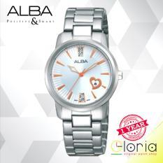 Alba Fasion Analog AH7D47X1 Quartz Movement with Swarovski Stainless Steel Strap - Silver