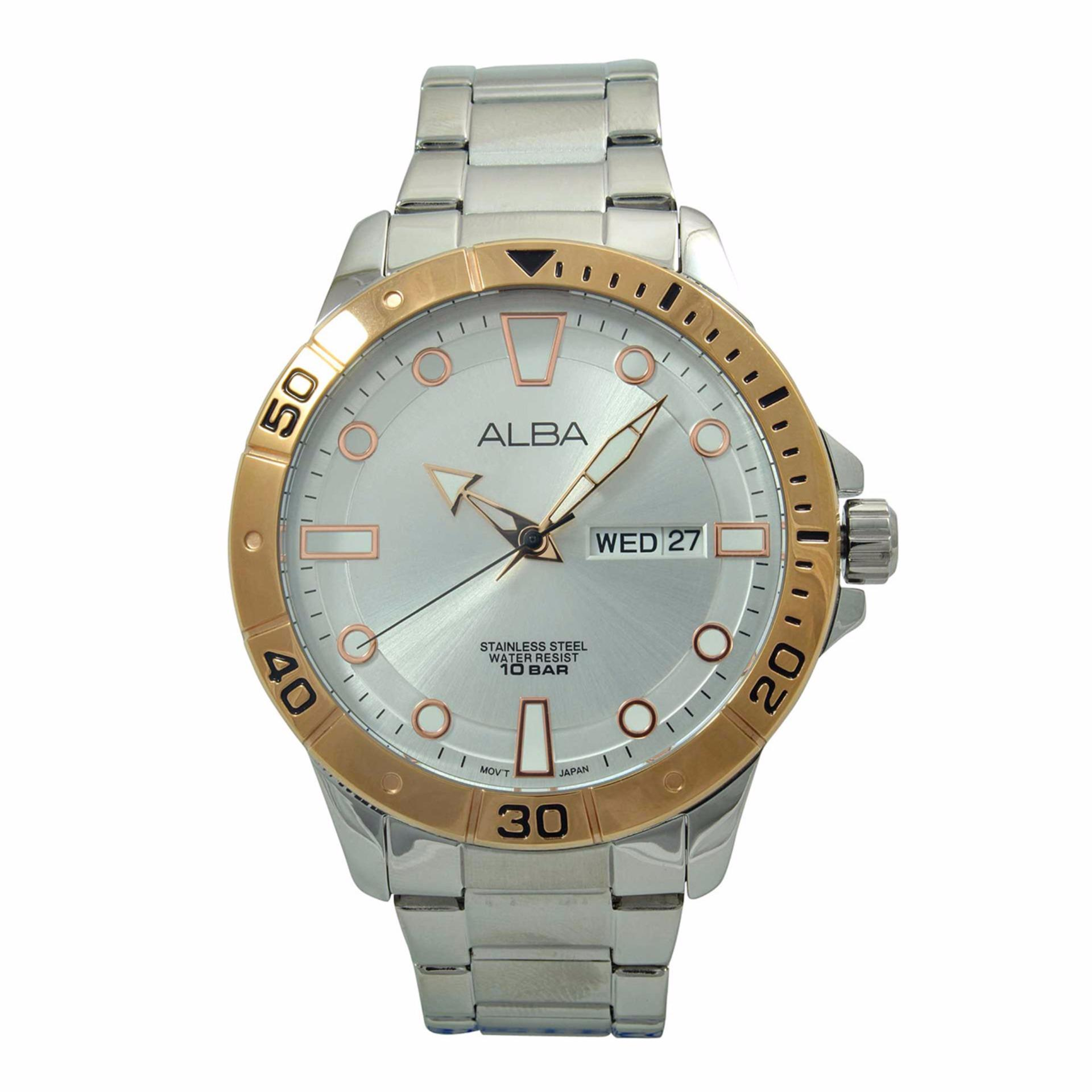 Jam Tangan GUESS Original Model Terbaru Harga Online di Indonesia Source · ALBA Jam Tangan Pria Silver Rosegold Stainless Steel AT2036