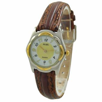 ALBA Jam Tangan Wanita - Brown Silver Gold - Leather Strap - ATAK30 - 2
