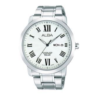 Alba Prestige Jam Tangan Pria - Tali Stainless Steel - Silver - AT2019X1