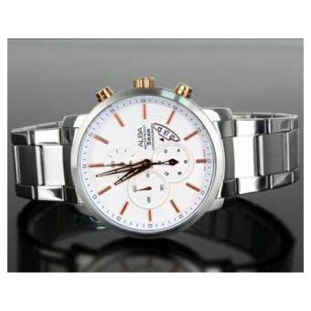 Alba Signa Chronograph Jam Tangan - Stap Stainless Steel - Silver - AF8S31X1 - 3