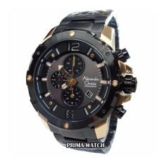 Alexandre Christie AC6410 - Jam Tangan Pria - Stainless Steel (Hitam List Gold)