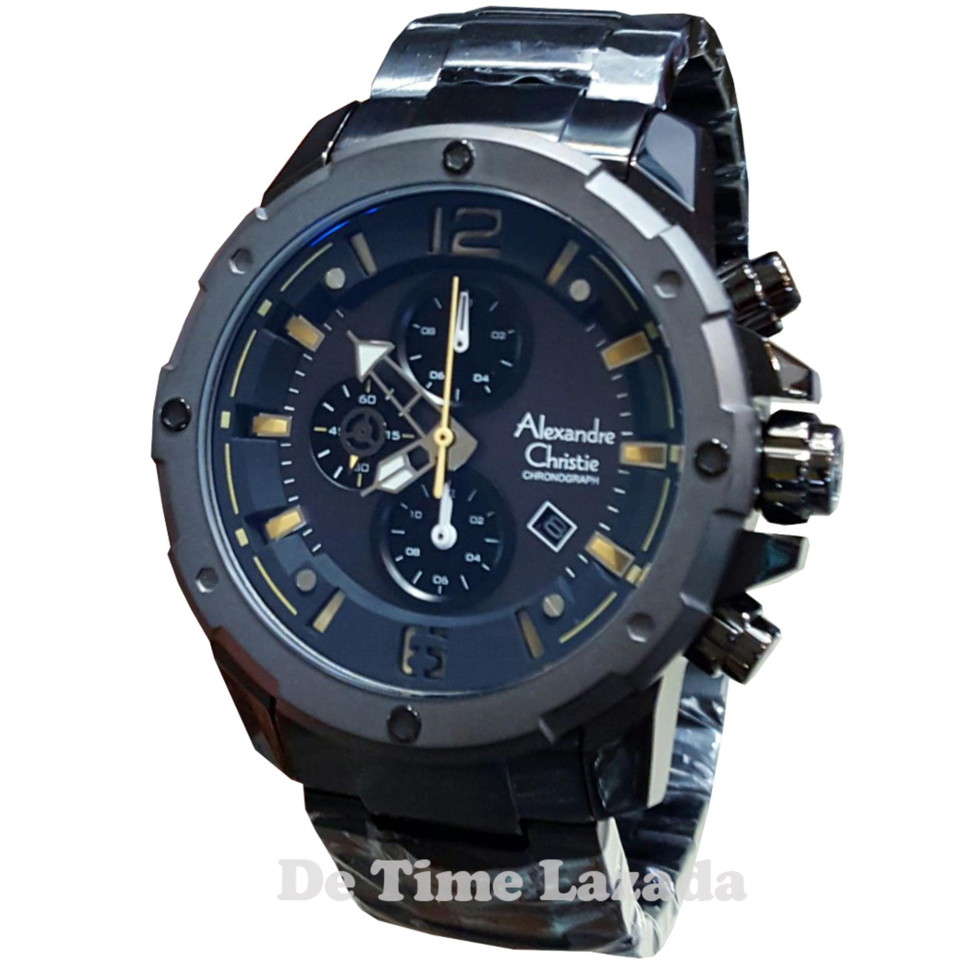 Alexandre Christie Ac6443mb Jam Tangan Pria Stainless Steel Hitam 6447 Silver Rose Gold Source Ac6410mb C