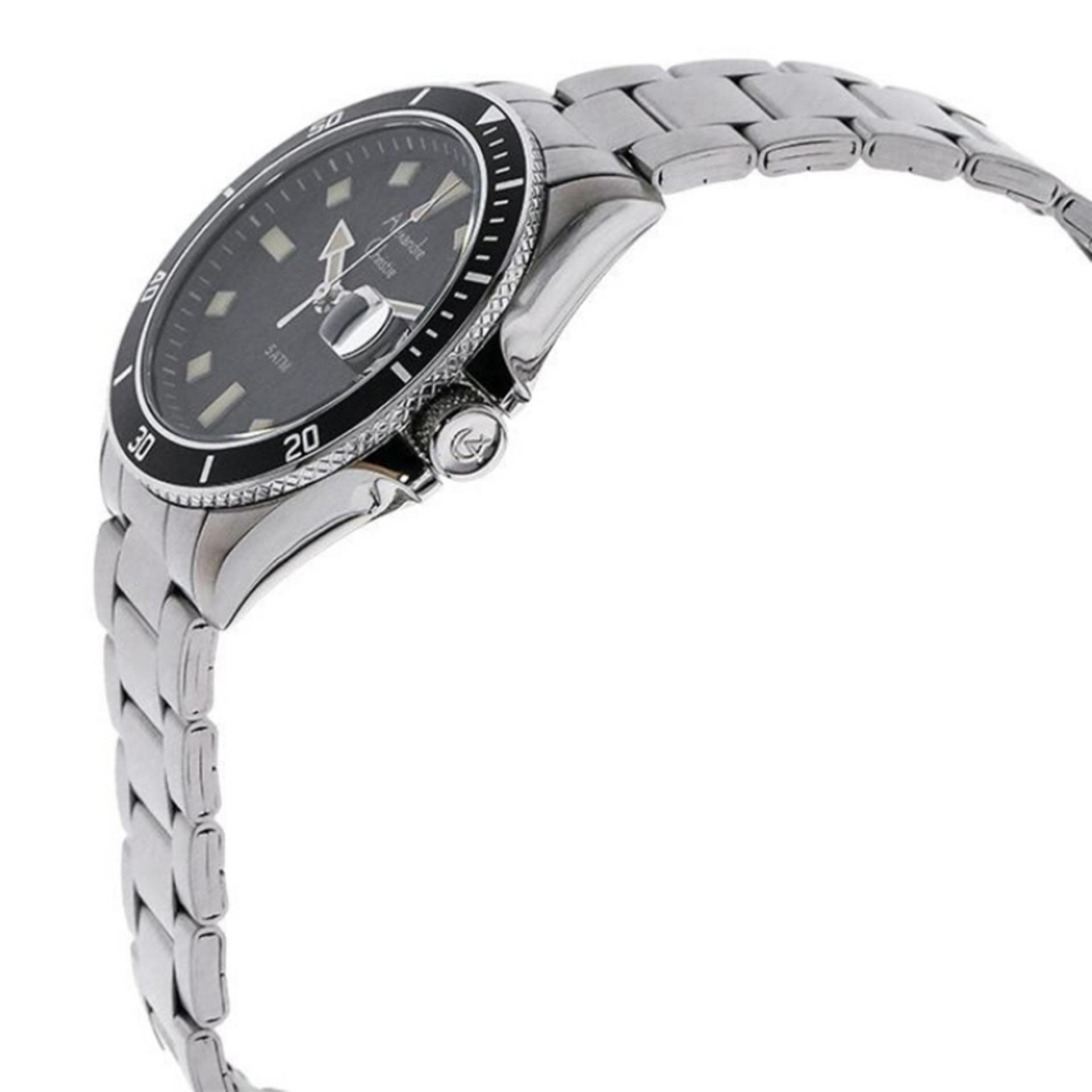 Alexandre Christie - AC6446M - Jamtangan Pria - Stainless Steel - Silver Hitam .