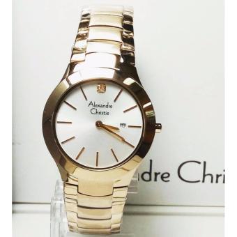 ... Alexandre Christie AC8028L Jam Tangan Wanita Stainless Steel Gold