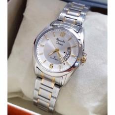Alexandre Christie AC8289BW Jam Tangan Wanita Stainless Steel Silver Lis Gold