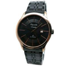 Alexandre Christie AC8348M Jam Tangan Wanita Stainless Steel Hitam Rose Gold