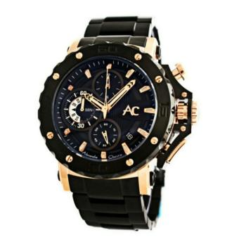 Alexandre Christie AC9205M Jam Tangan Pria Stainless Steel hitam rose gold