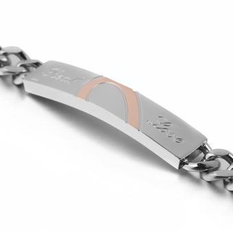 Allwin Baru gelang titanium stainless Steel untuk pasangan manset Bangle Bracelet - 4