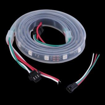 Allwin WS2811 5050 RGB LED strip cahaya tahan air beralamat tabung DC 5 V Hitam Shell Hitam ...