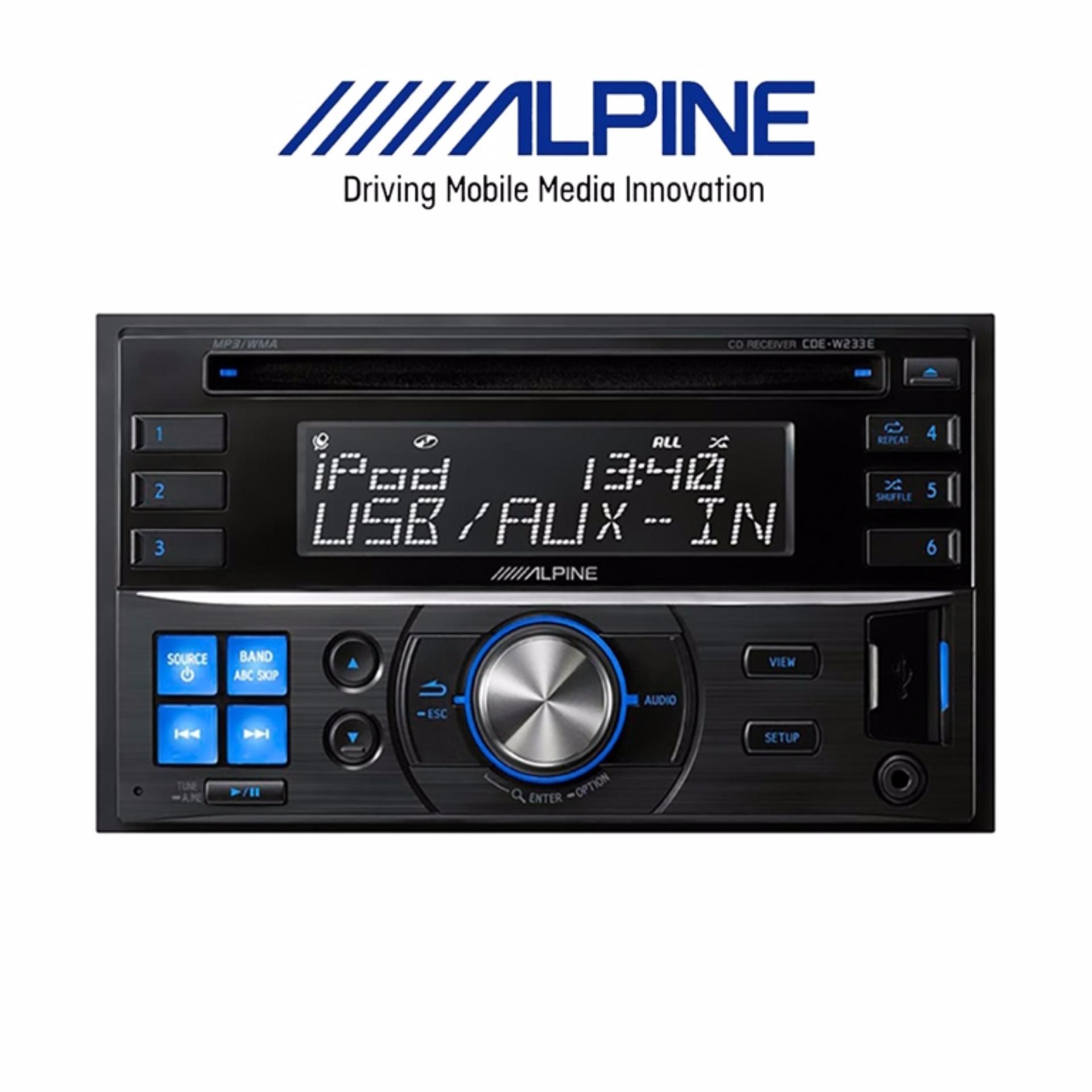 Alpine Cde W233eh Garansi Resmi 1 Tahun Beli Harga Murah Radius Hp Nef11