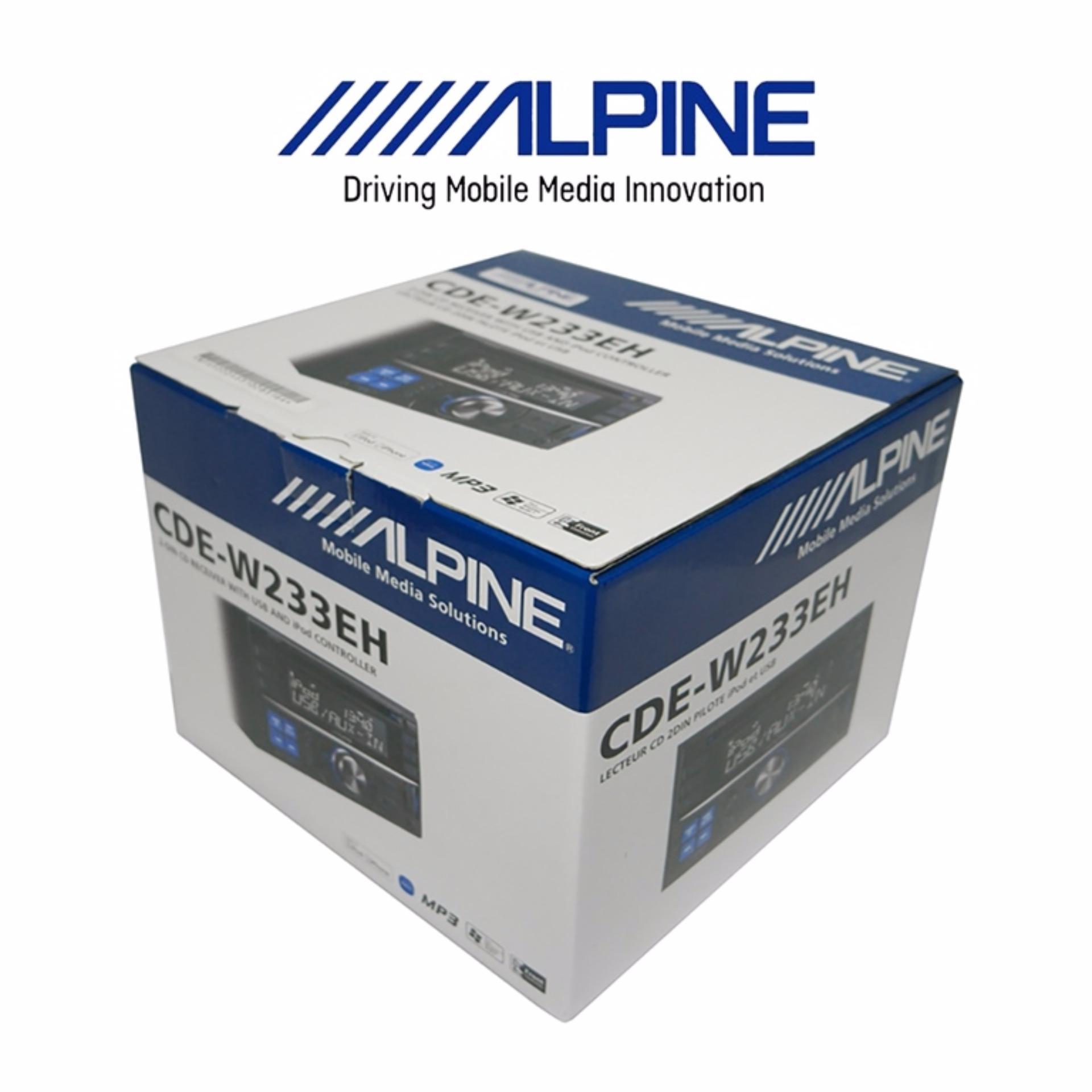 Alpine CDE-W233EH Garansi Resmi 1 Tahun
