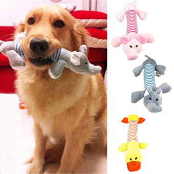 Amart Pet Puppy Chew Squeaker Squeaky Plush Sound Duck Animal Toys- intl