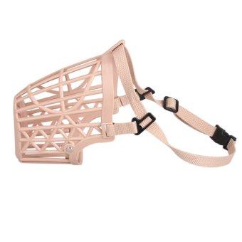 Amart Portable Plastic Basket Adjustable Dog Mesh Muzzle Mouth Mask (Size:1) -