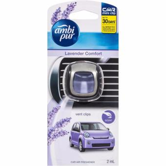 Ambi Pur Car Mini Clip Lavender Comfort 2 ml 30 Hari Pengharum Mobil