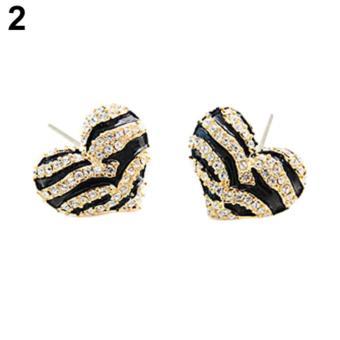 Gambar Amefurashi Anting Korea Love Zebra Stud Earring Beauty