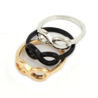 Amefurashi Cincin Infinity Unik Fashion Ring - 3