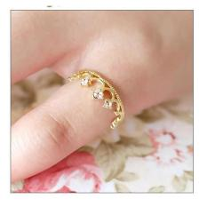 Amefurashi Cincin Mahkota Cantik Fashion Ring Crown Wedding Vintage Ring