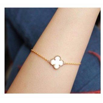 Amefurashi Gelang Daun Gingko Serena Four Leaf Bracelet - 3