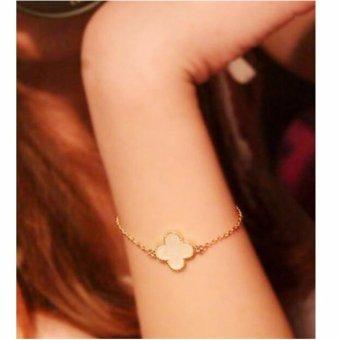 ... Amefurashi Gelang Daun Gingko Serena Four Leaf Bracelet - 4