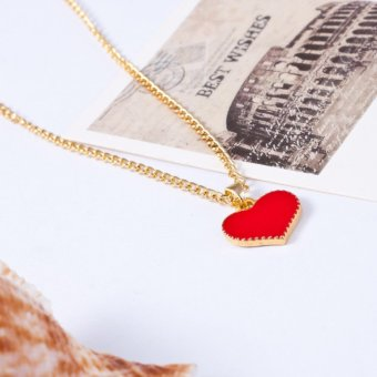 Amefurashi Kalung Cinta Serena Hearts With Love Necklace Pendant - 5