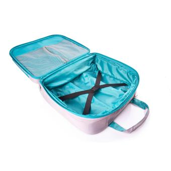 American Tourister Tas Huemix Rolling Tote - Grey/Turquoise - 3
