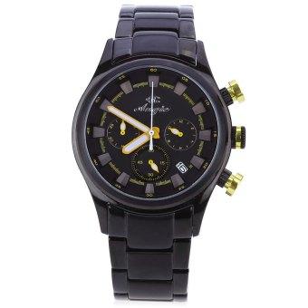 Angie ST7179 Vika Series Analog Quartz Watch for Men Women Date Display Working Three Sub-dials (YELLOW)