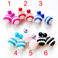 Anne - Anting candy double stud - EE0068 Blue