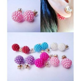 Gambar Anneui EE0053 Anting Double Pearl Candy Stud