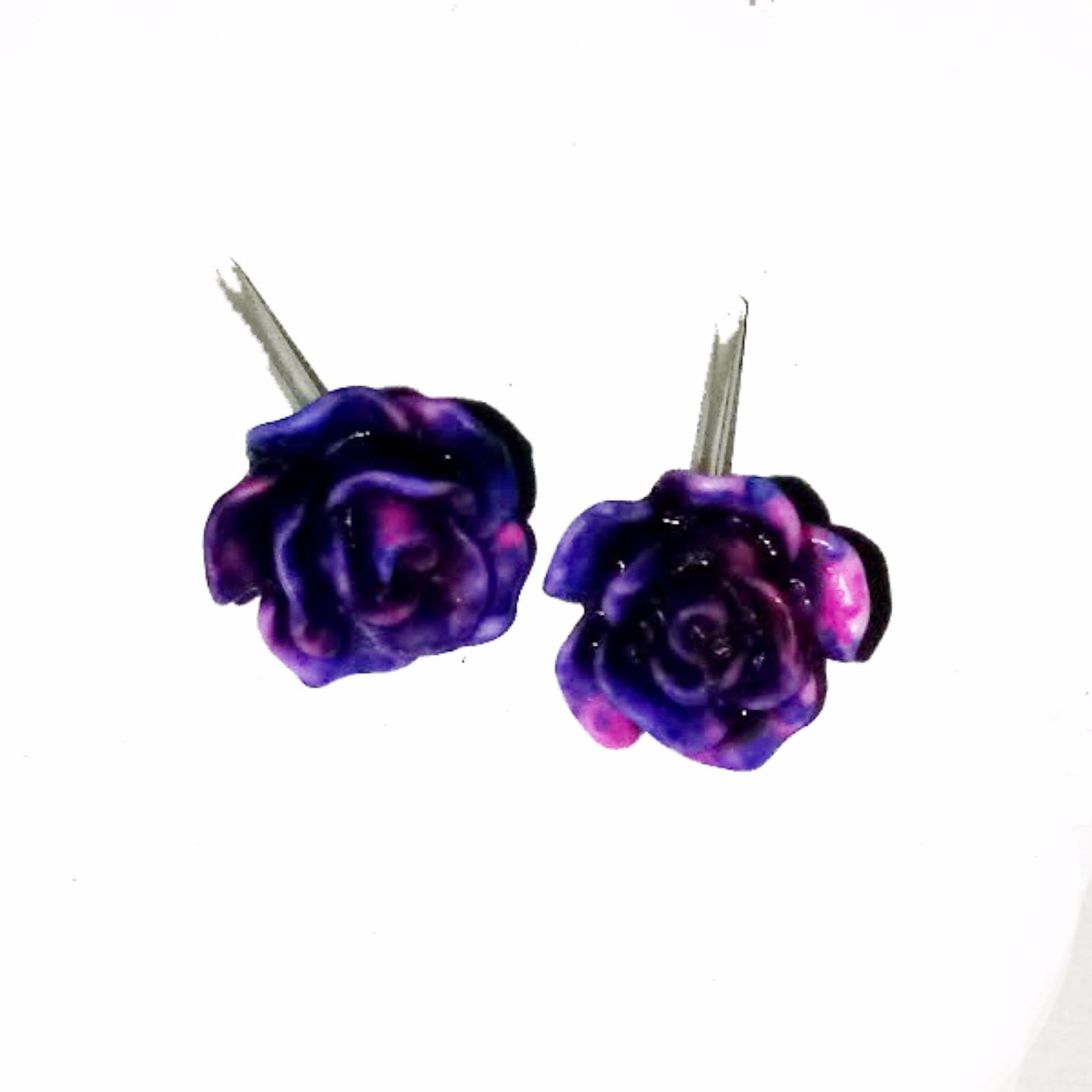 ... Anneui EE0335 Anting Tusuk Model Bunga Cantik Dengan Warna Mix