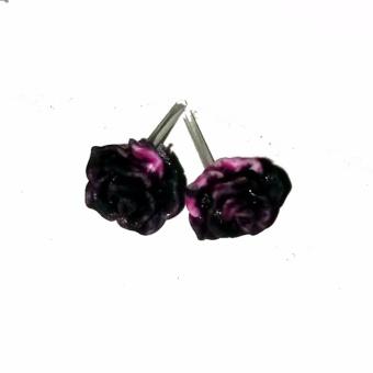 Anneui - EE0335 - Anting Tusuk Model Bunga Cantik Dengan Warna Mix