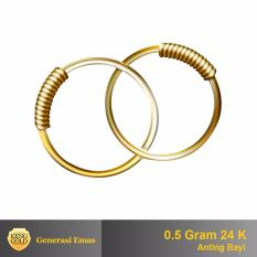 Anting Emas Bayi 24 K - 0.5 gr