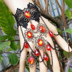 Ask1155 - Gelang Cincin India Handmade Warna Mata & Renda Bisa Request