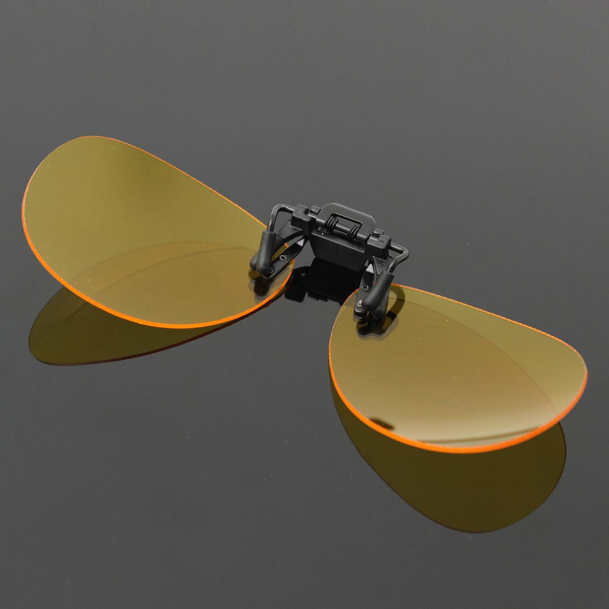 Audew terpolarisasi klip pada lensa kacamata hitam malam penangkapan ikan  mengemudi UV400 malam visi Kuning ... 2c6b0edf40