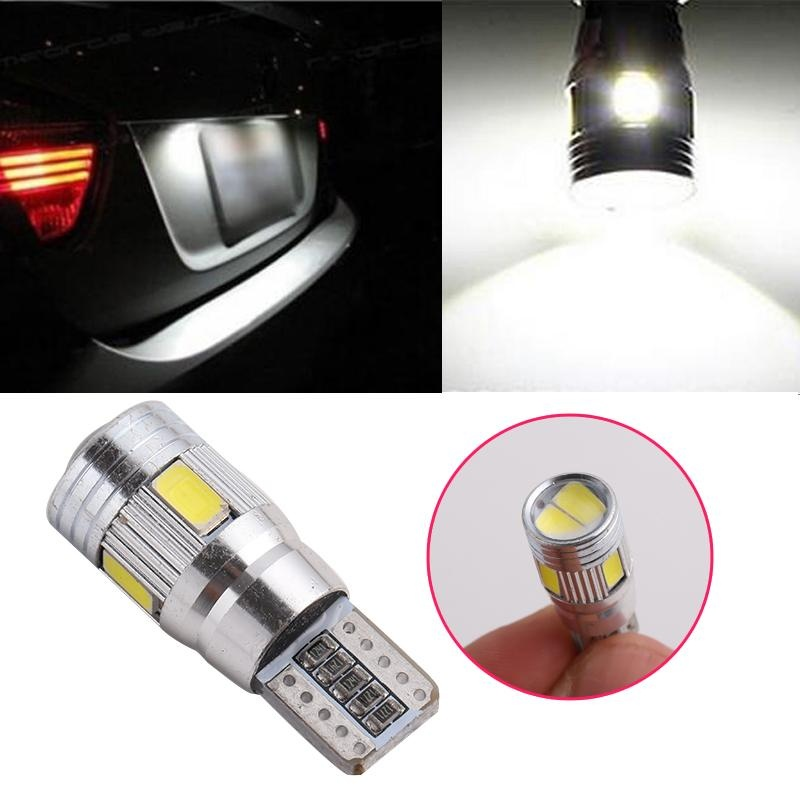 Aukey baru 2017 1 Bh 5630 T10-6 SMD Error 270 LM Interior LED Light bulbs 3 W 12 V lampu