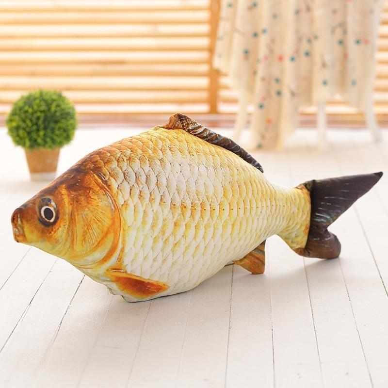 Aukey NEW Simulation Carp Fish Plush Pillow Creative Sofa Pillow Kids Toy Christmas - intl