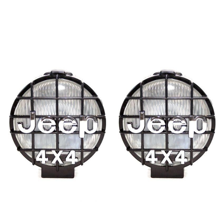 Autofriend FOG LAMP JEEP 4 X 4 SET Universal Grill Depan AksesorisLampu Sorot Mobil Modifikasi -