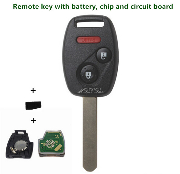 Autoleader 2003-2007 Remote Key with Chip ID46 433 MHz for Honda Accord FIT Civic