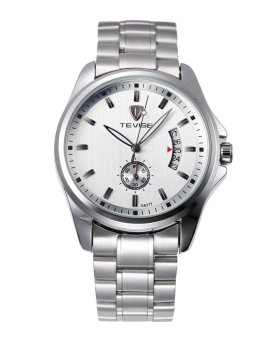 Automatic Mechanical Watches for Men's Retro Waterproof Business White Dial - intl