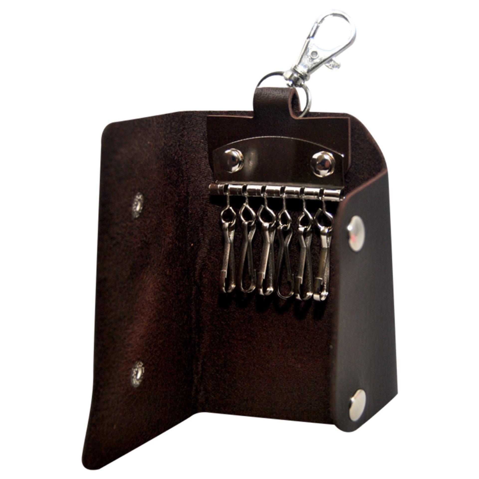 Autorace Dompet / Gantungan Kunci Mobil Motor Polos - Brown