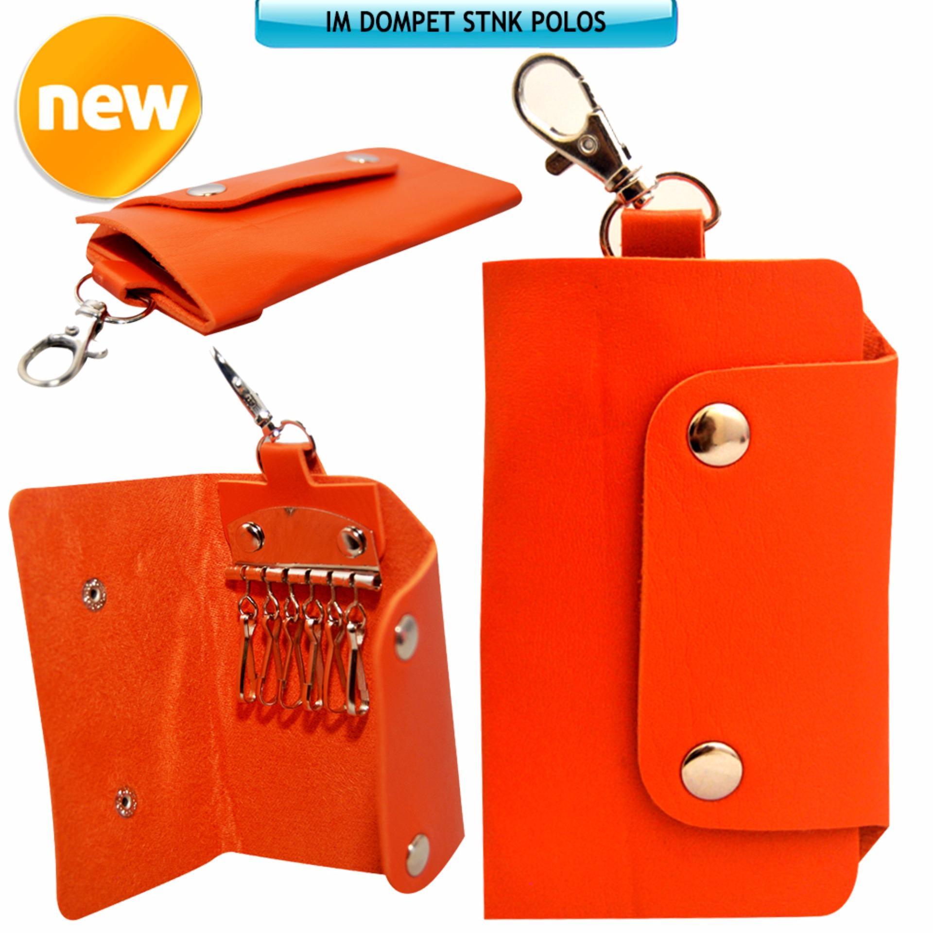 Autorace Dompet / Gantungan Kunci Mobil Motor Polos - Orange