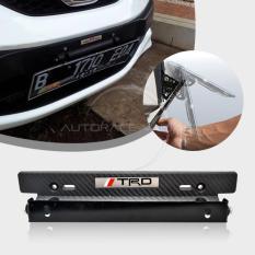 Autorace Dudukan / Aksesoris Tatakan Plat Nomor / Nomer Carbon Mobil / Breket / Braket / Bracket JDM TRD - Black
