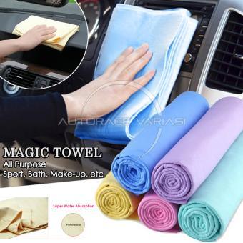 harga Autorace Magic Towel/Kanebo/Canebo/Lap Multifungsi/Handuk AjaibSerbaguna KC-01 - Blue Lazada.co.id