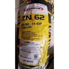 BAN LUAR TUBELESS 80/80/14 BUAT ALL METIC MEREK ZENEOS ZN62 RING 14