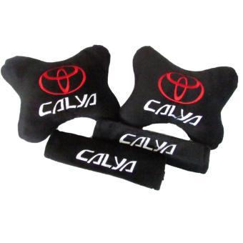 Bantal Mobil Car Set Sandaran Jok Mobil 2in1 Toyota Calya - Merah