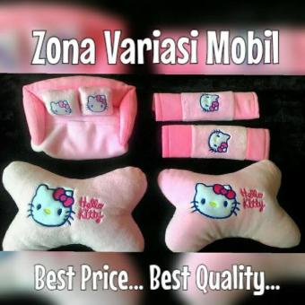 Bantal Mobil Set 3in1 Hello Kitty / Headrest Car Set 3 in 1