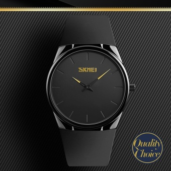 Baru Fashion merek SKMEI Watch 1601S pria kuarsa Watches kasual Ultra tipis jam tangan 30M tahan air Watch - intl