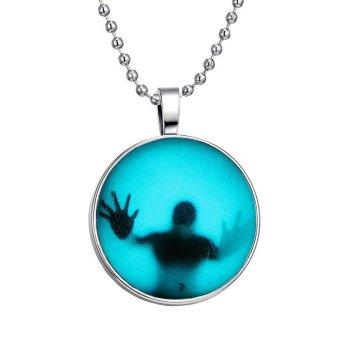 Bersinar dalam Silver gelap bayangan nada menyeramkan pria kalung58.42 cm Rantai Bola - 2
