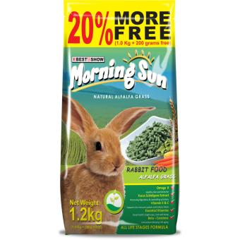 Best In Show Morning Sun Rabbit Alfalfa Grass Makanan Kelinci [1.2 kg]