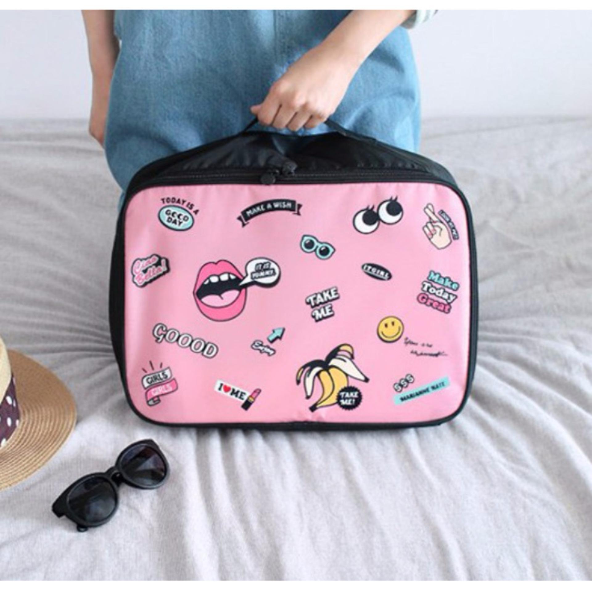 BEST LIP Travel Bag (Ukuran L) Hand Carry Tas Lipat Koper Luggage Organizer Tenteng